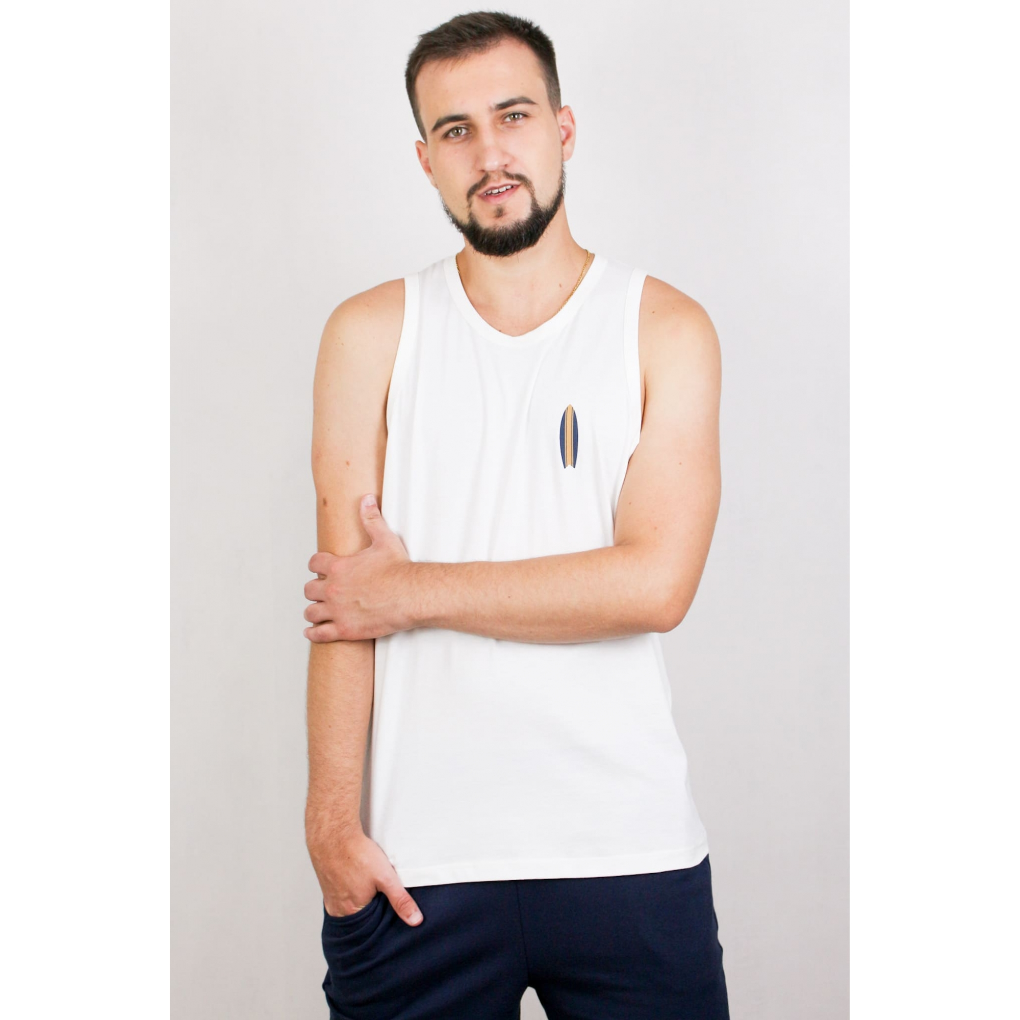 Camiseta Regata Sem Manga Masculina