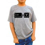 Camiseta Infantil Ctrl V