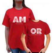 Kit Camiseta Amor Tal Mae Tal Filho/a