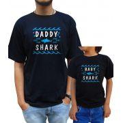 Kit Camiseta Baby Shark Pai e Filho/a