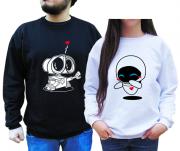 Kit Moletom Wall-e e Eva Namorados 