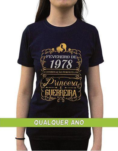 Camiseta Princesa Guerreira Fevereiro