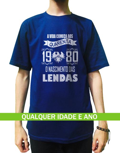 Camiseta A Vida Começa Aos 40, 30, 50