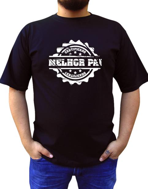 Camiseta Certificado Melhor Pai