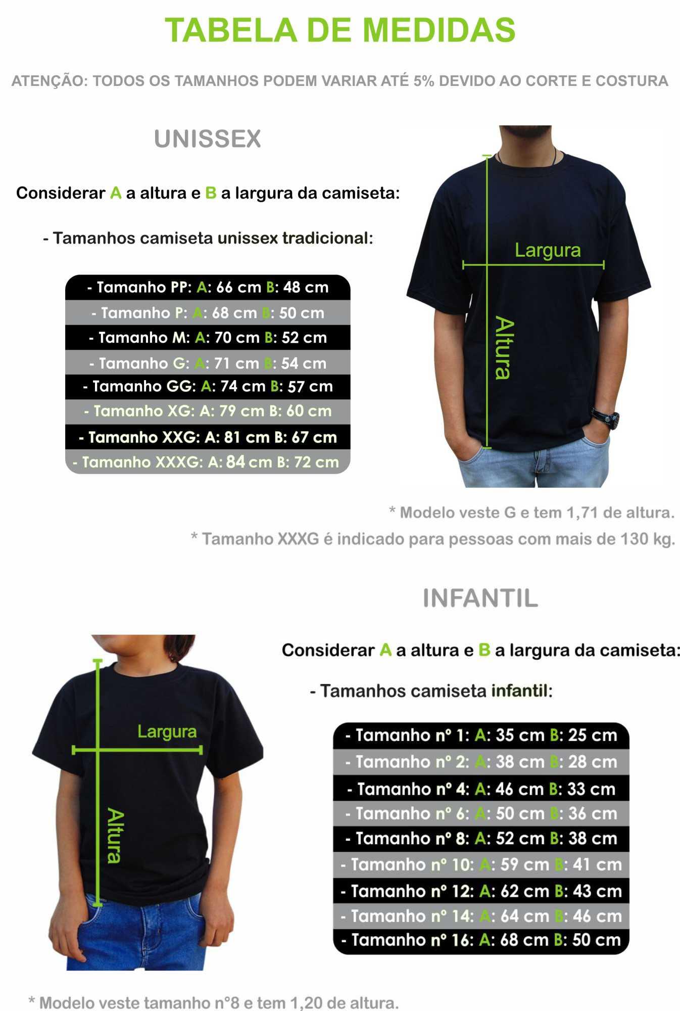 Camiseta Infantil Coração Bate Fora do Peito