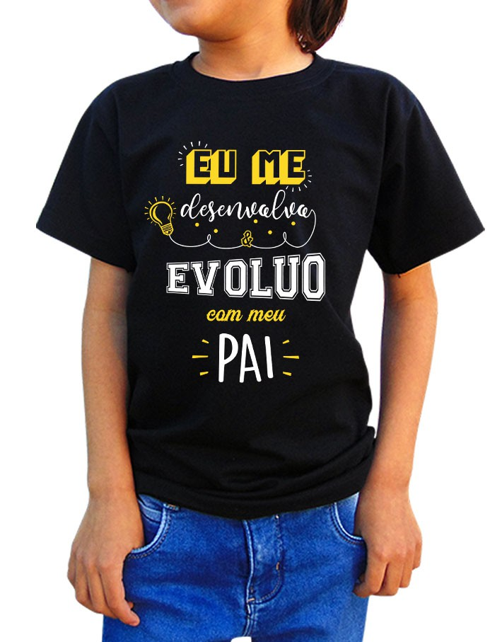 Camiseta Infantil Desenvolvo e Evoluo