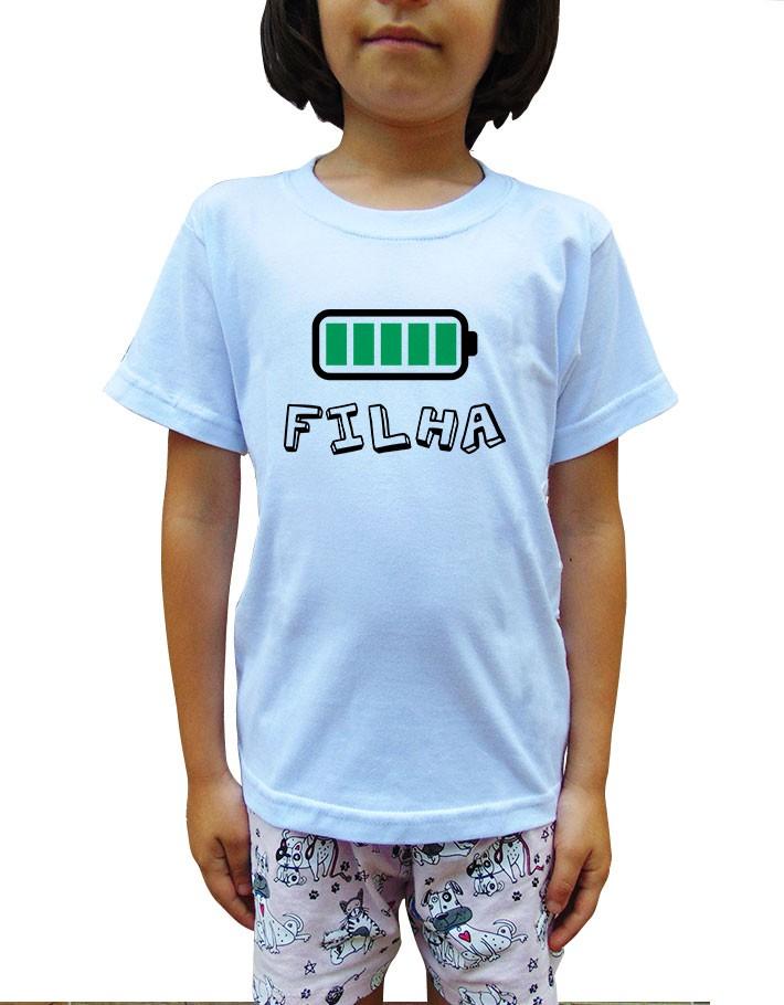 Camiseta Infantil Pilha