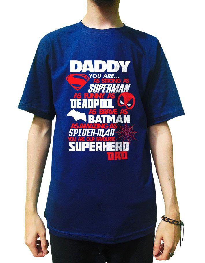 Camiseta Pai Meu Super Heroi Favorito