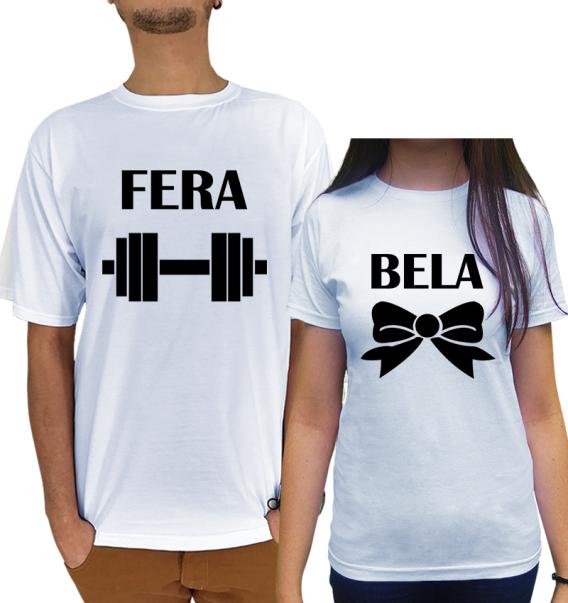Kit Camiseta Bela e Fera Namorados