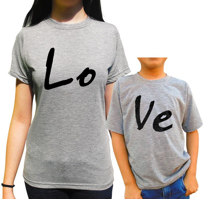 Kit Camiseta Love Tal Mae Tal Filho/a