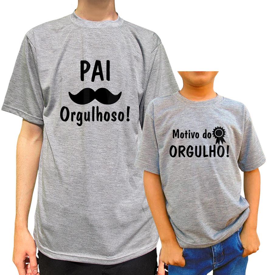 Kit Camiseta Pai Orgulhoso Filho/a Orgulho