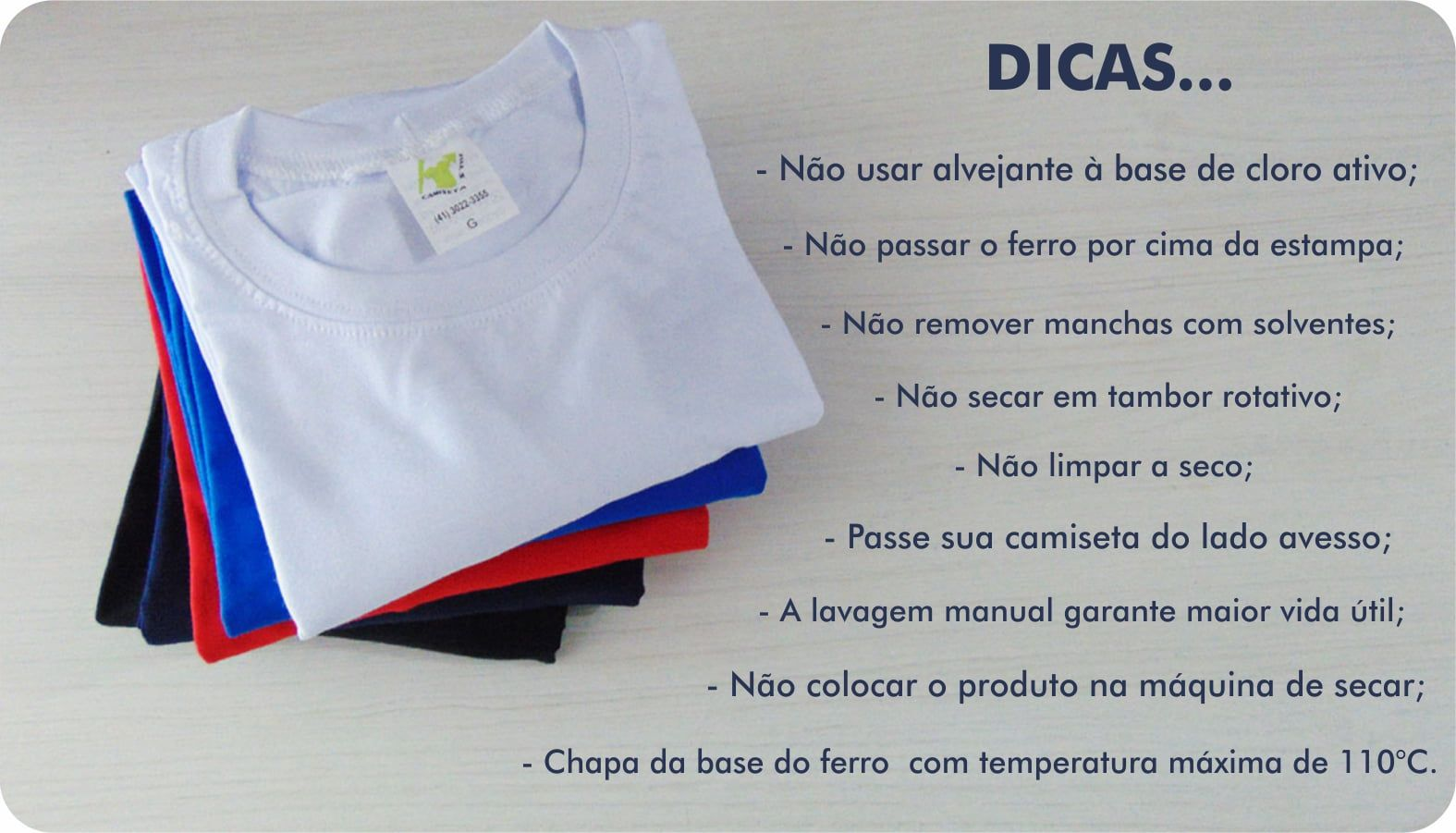 Kit Camiseta Pilha