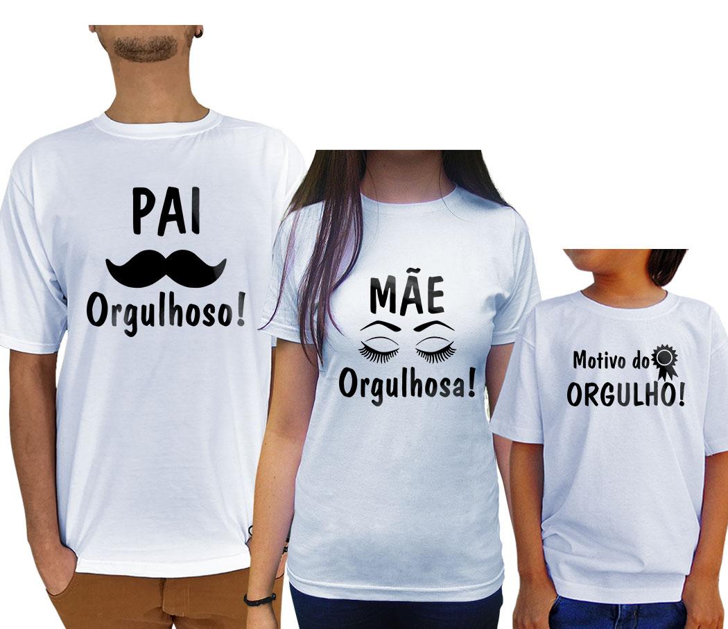 Kit camisetas família orgulhosa