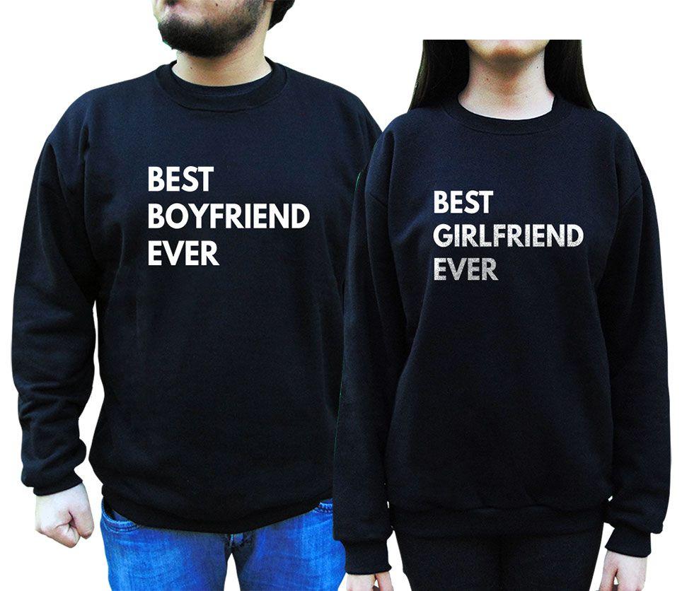 Kit Moletom Best Girlfriend Boyfriend Namorados