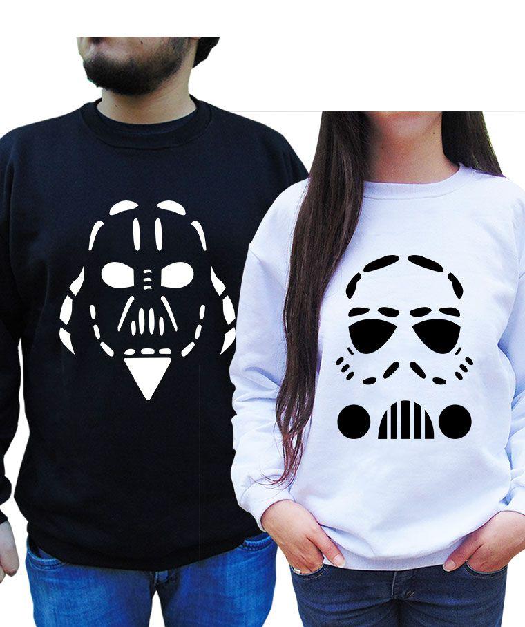Kit Moletom Casal Star Wars Namorados.