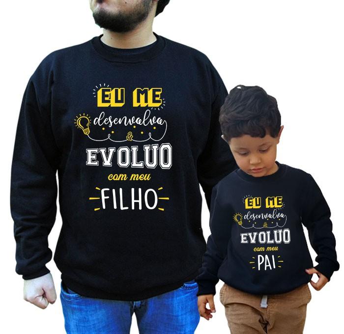 Kit Moletom Pai e Filho/a Desenvolvo e Evoluo