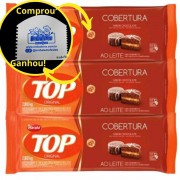 3 Cobertura Fracionada sabor Chocolate Ao Leite 2,1 kg Top Harald