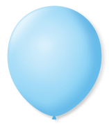 Balão Azul Baby Liso Número 7 São Roque c/50 Unidades