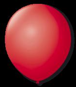 Balão vermelho Rubi Liso Número 7 São Roque c/50 Unidades