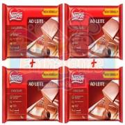 Caixa C/4 Barra De Chocolate Ao Leite 1kg Nestlé