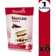 Chantilly Norcau Puratos 1L Para Bolo - Kit 6 Unidades