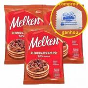 Chocolate em pó 50% cacau Harald Melken 1kg C/3