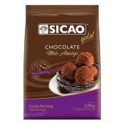 Chocolate Meio Amargo Gotas 2,05kg Sicao Gold