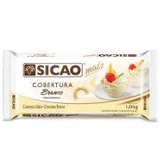 Cobertura Fracionada Chocolate Branco 1,01kg Sicao Barra Mais