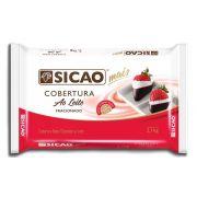 Cobertura Fracionada sabor chocolate ao leite barra 2,1kg Sicao Mais