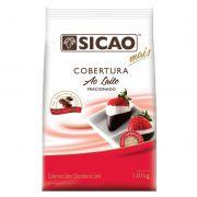 Cobertura Fracionada sabor chocolate ao leite gotas 1,01kg Sicao Mais