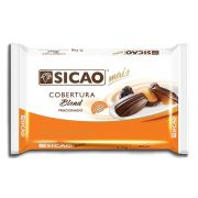 Cobertura Fracionada sabor chocolate Blend barra 2,1kg Sicao Mais