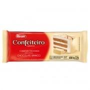 Cobertura Fracionada sabor chocolate Branco Barra 1,05 kg Confeiteiro  Harald