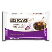 Cobertura Fracionada sabor chocolate meio amargo barra 2,1kg Sicao Mais