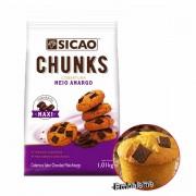 Cobertura Fracionada Meio Amargo Chunks Sicao 1,01kg