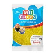 Confeito Miçanga amarela n°0 Mil Cores 500g