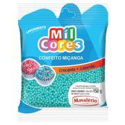 Confeito Miçanga Azul Baby N°0 150g Mil Cores Mavalério