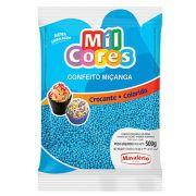 Confeito Miçanga Azul N°0 500g Mil Cores Mavalério
