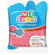 Confeito Miçanga Rosa Baby N°0 150g Mil Cores Mavalério