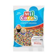 Confeito Miçanga Colorida N°0 500g Mil Cores