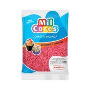 Confeito Miçanga Rosa N°0 500g Mil Cores Mavalério