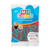 Confeito Miçanga Vermelho/Verde N°0 500g Mil Cores