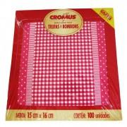 Embalagem para Trufas e Bombons Xadrez Rosa c/100 uni 15cm x 16cm Cromus
