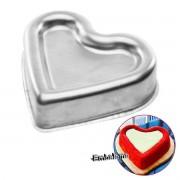 Forma Ballerine coração grande alumínio 25x23x7cm (0886) CAPARROZ