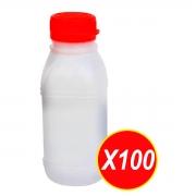 Garrafinha 300ml Frasco De Suco Ou Molho Com Tampa Branco - 100 Unidades