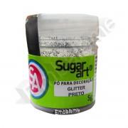 Glitter Pó para Decoração Sugar Art Preto 5g