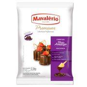 Gotas Chocolate Fracionado Meio Amargo 2,1kg - Mavalério