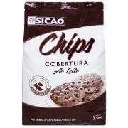 Gotas Forneáveis de Cobertura sabor chocolate ao Leite 2,5kg Sicao