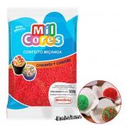 Confeito Miçanga Vermelho 500g Mil Cores