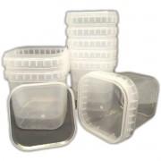 Kit 150 Potes Com Lacre 500ml Quadrado Potinhos com Tampa