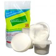 Kit C/150 - Potinhos De Bolo 250ml Redondo Rioplastic
